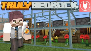 Truly Bedrock SMP S1 : E36 - Making an Automatic Honey and Honeycomb Farm!