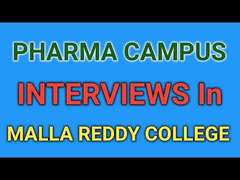 Pharma Campus interviews in Malla Reddy college of Pharmacy by Laurus Labs Ltd  || PHARMA JOBS ||