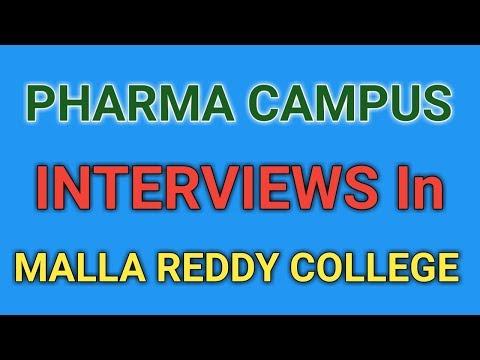 Pharma Campus interviews in Malla Reddy college of Pharmacy by Laurus Labs Ltd     PHARMA JOBS   