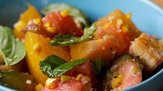 Tomato And Corn Panzanella • Tasty
