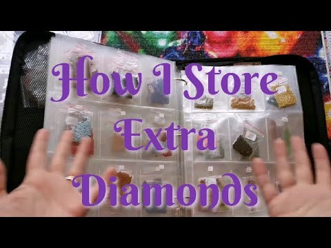 How I Kit Down A Diamond Painting Excess Drill Storage Youtube