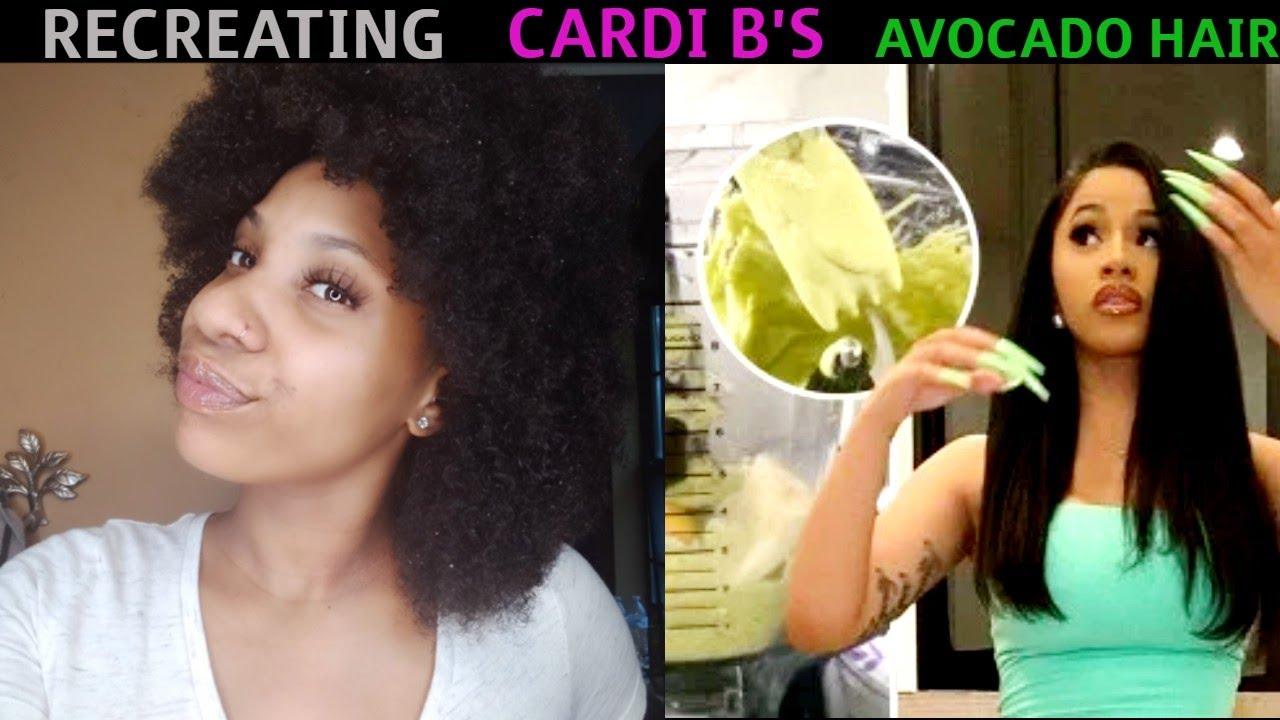 #CardiB #HairMask RECREATING   CARDI B'S   AVOCADO HAIR MASK - YouTube