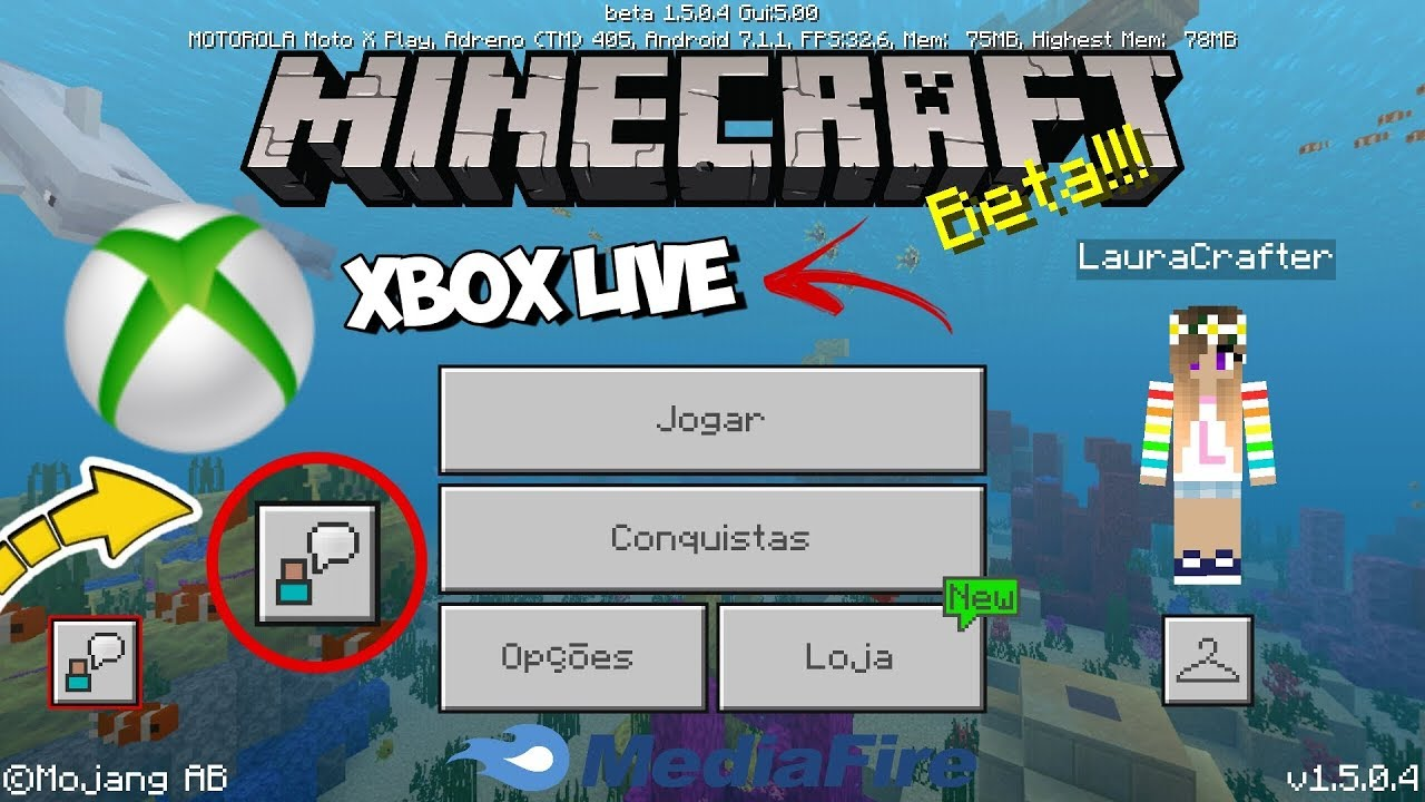 COMO SE CONECTAR NA XBOX LIVE SEM ERRO - MINECRAFT PE 1111.1111/MCPE 1111.11.11.11111