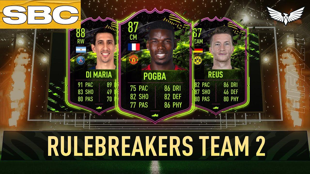 new rulebreakers promo cards 6pm content fifa 21 ultimate team pogba reus di maria more