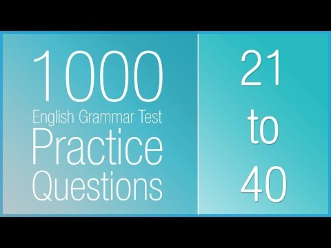 [21-40] 1000 English Grammar Test Practice Questions (Present Simple)