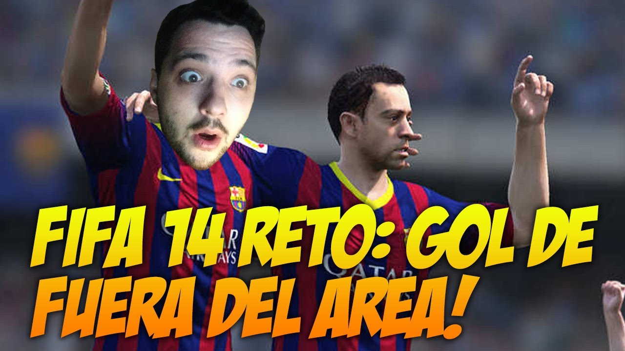 ¡¡TE RETO!! Gol de fuera del área en FIFA 14... y en una parte - Pep reta a Xavi