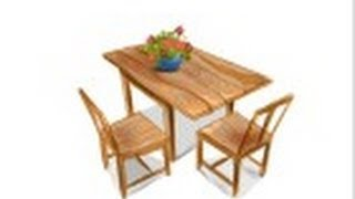 How to draw a Dining table with chairs