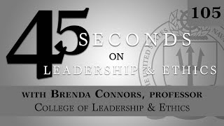 45 Seconds on Leadership and Ethics\