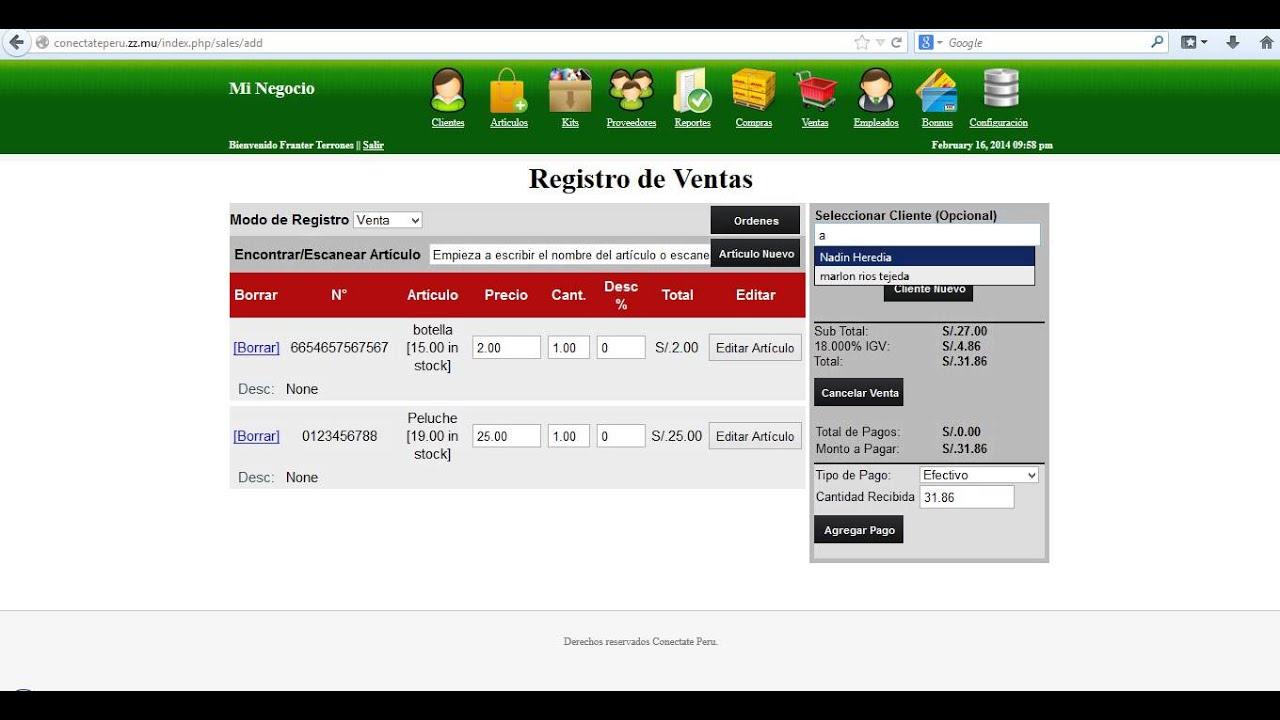 Sistema de Venta PHP - MYSQL: Muy Bueno Descargalo Completo - YouTube