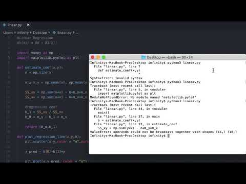 Linear Regression Python Implementation PART 1 | Machine Learning Tutorial With Python thumbnail