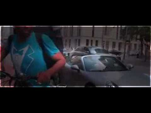Stupid Toronto cab driver hates biker, watch what he does!
