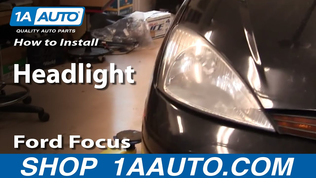 How To Repair Install Replace Headlights on Ford Focus 00 ...