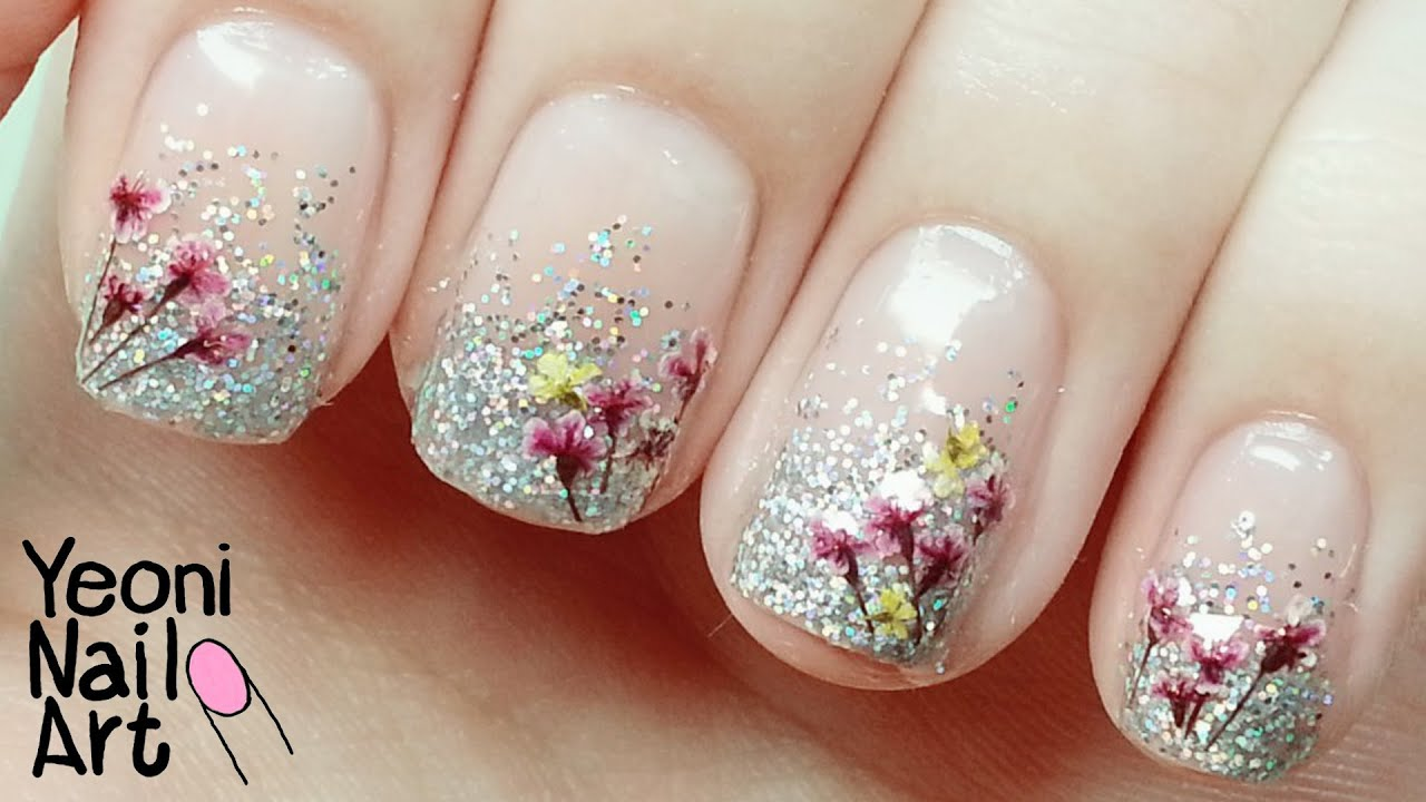 .  ] Dried Flower Nail Art Tutorial / Dressgal ...