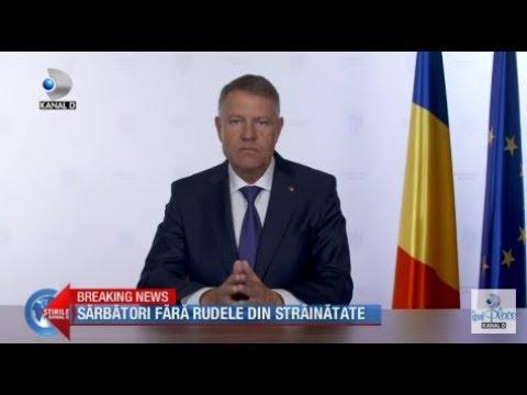 Stirile Kanal D (05.04.) - Sarbatori Fara Rudele Din Strainatate! Ce Mesaj A Transmis Presedintele?
