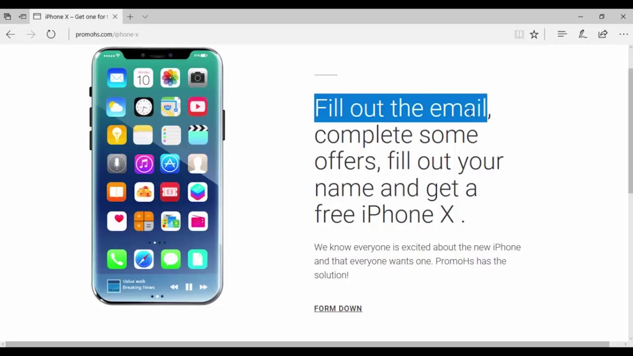 Get the chance to get a FREE iPhone X - Giveaway - Complete the form!