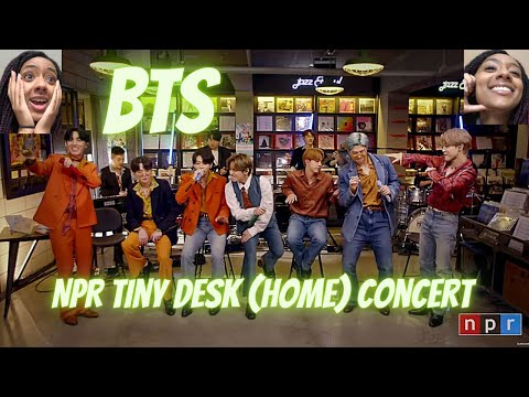 BTS: Tiny Desk (Home) Concert | REACTION!!