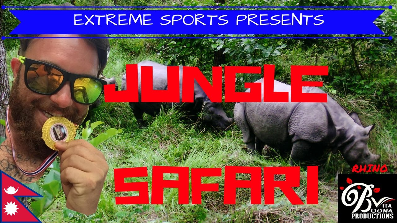 Safari Giungla Nepal - RINOCERONTE - Jungle Safari Nepal - RHYNO - national  park CHITWAN - NEPAL