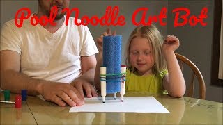 Olivia and I built these DIY coloring robots for only $1 using pool...