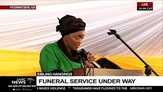 An emotional send off for 4 Durban siblings currently under way