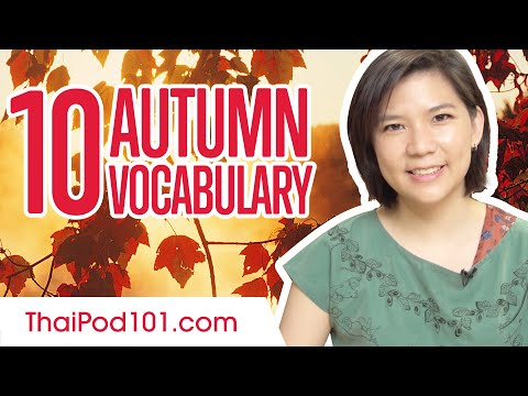Learn the Top 10 Autumn Words in Thai!