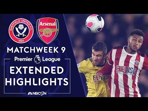 Sheffield United v. Arsenal | PREMIER LEAGUE HIGHLIGHTS | 10/21/19 | NBC Sports