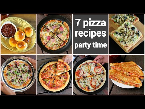 7 Mind Blowing Indian Pizza Recipes | घर पर पिज़्ज़ा बनाने की विधि | Fusion Pizza Recipes Collection