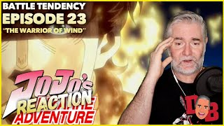 """Jojo's Bizarre Adventure (Battle Tendency) E23 """"The Warrior Of Wind"""" REACTION"""