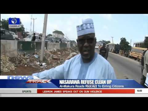Nasarawa Refuse Clean Up: Al Makura Reads Riot Act To Erring Citizens 041015