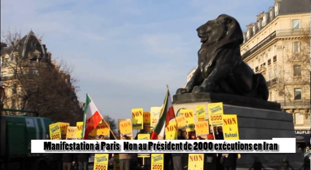 MANIFESTATION À PARIS NON A ROHANI, JEUDI 28 JANVIER 2016, PARIS, PLACE DENFERT - ROCHEREAU, 13H