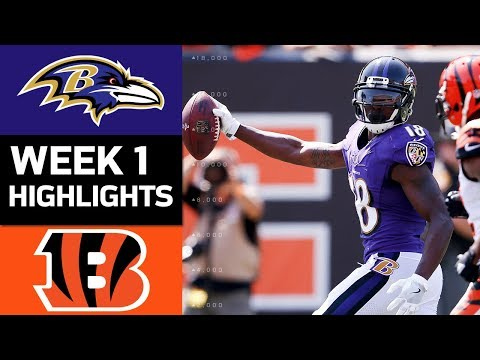Ravens vs. Bengals | NFL Week 1 Game Highlights