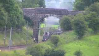 5972 Olton Hall (Hogwarts Castle) on Wizards Express & 60009 Union Of South Africa on CME 12/7/14