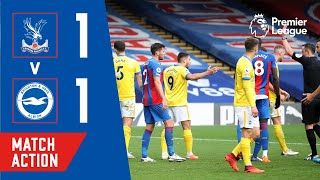 LEWIS DUNK RED CARD! Crystal Palace 1-1 Brighton   Match Action