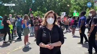 Beyaz Saray Önünde Protestolar Sürüyor