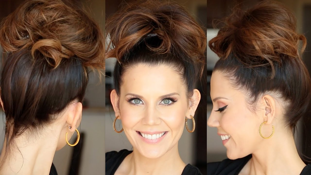 Quick Messy Bun For Long Hair
