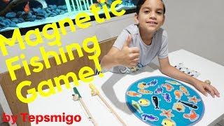 Going Fishing! Wood Magnetic Fishing Game By Tepsmigo