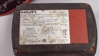 41867 -  HILTI SFH22-A 22V Cordless Hammer Drill + AG-125 22-A CORDLESS ANGLE GRINDER