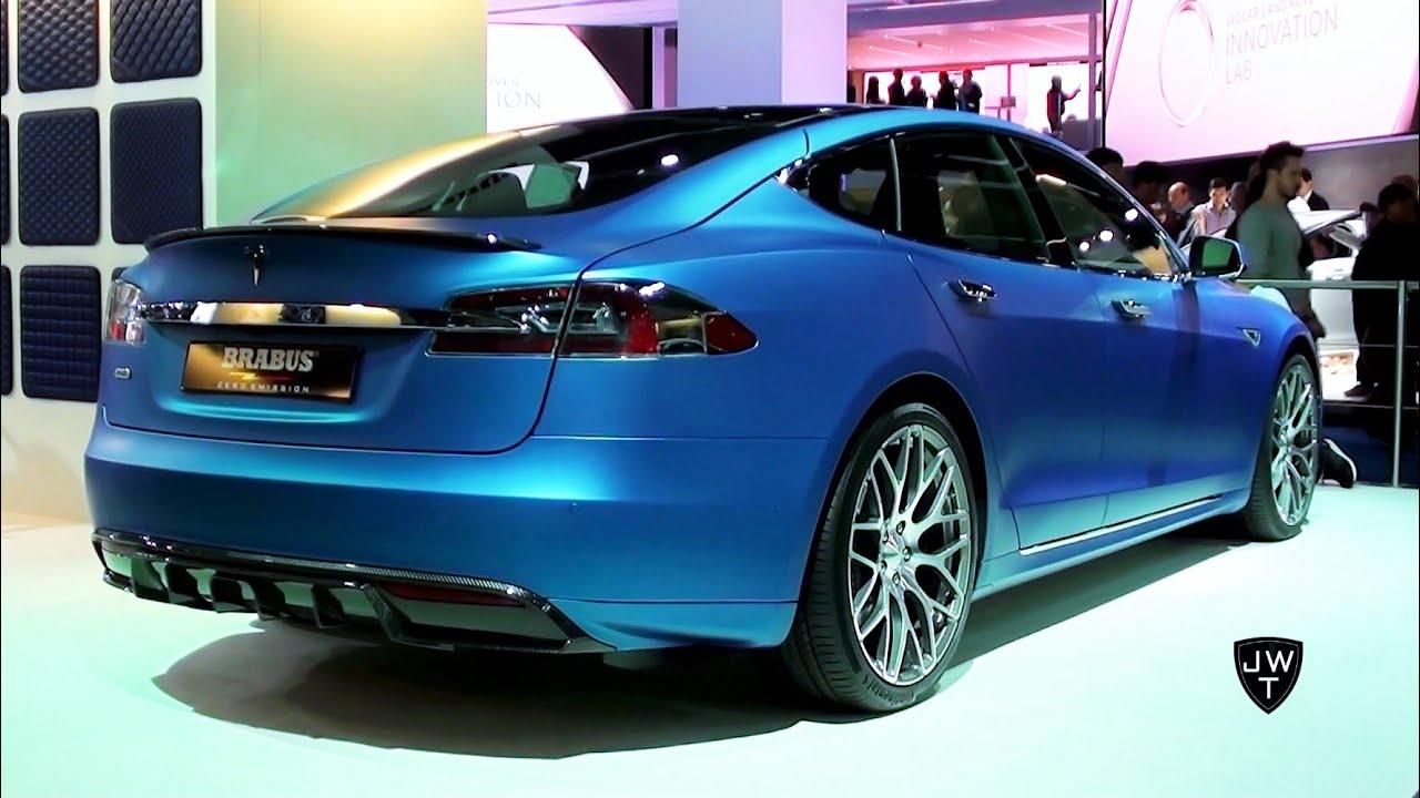 Zero Emission 2015 Tesla Model S P85D By BRABUS! - IAA Frankfurt 2015