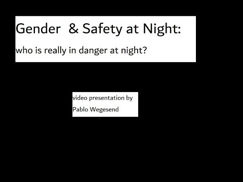 gender & safety at night