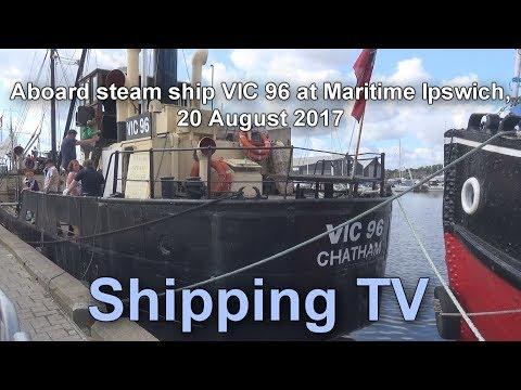 Aboard steam ship VIC 96 at Maritime Ipswich, 2017