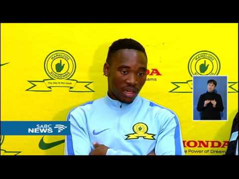 Sibusiso Vilakazi had his first training session with Mamelodi Sundowns