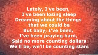 Repeat youtube video OneRepublic - Counting Stars [Lyrics]