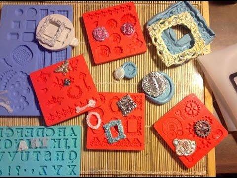 Hot glue molds embellishments