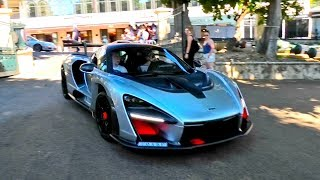Insane $1.5 Million McLaren Senna shows up at Monaco Cars and Coffee!