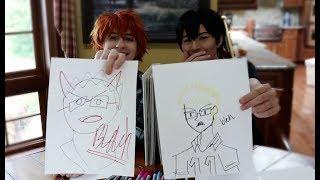 HINATA AND KAGEYAMA DRAW EACHOTHER + TEAM!!!   Haikyuu Cosplay Speed Draw CHALLENGE