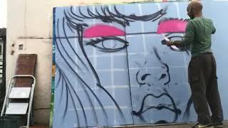 Graffiti character timelapse