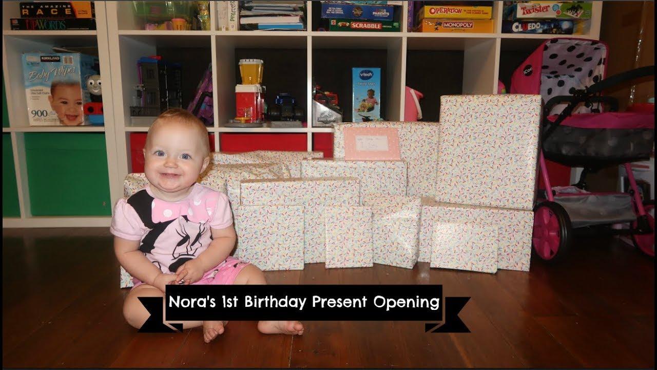 Noras 1st Birthday Present Opening 2019