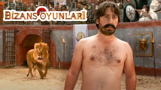 Vurkaçoğlu Aslana Lazer Tutuyor - Bizans Oyunları Film (Komik Sahne)