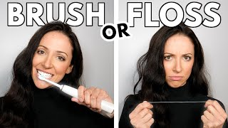 Should You BRUSH or FLOSS First?