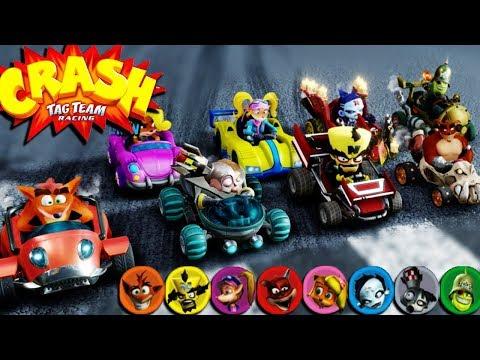 Crash Tag Team Racing In Crash Team Racing Nitro-Fueled - Funny Races #37