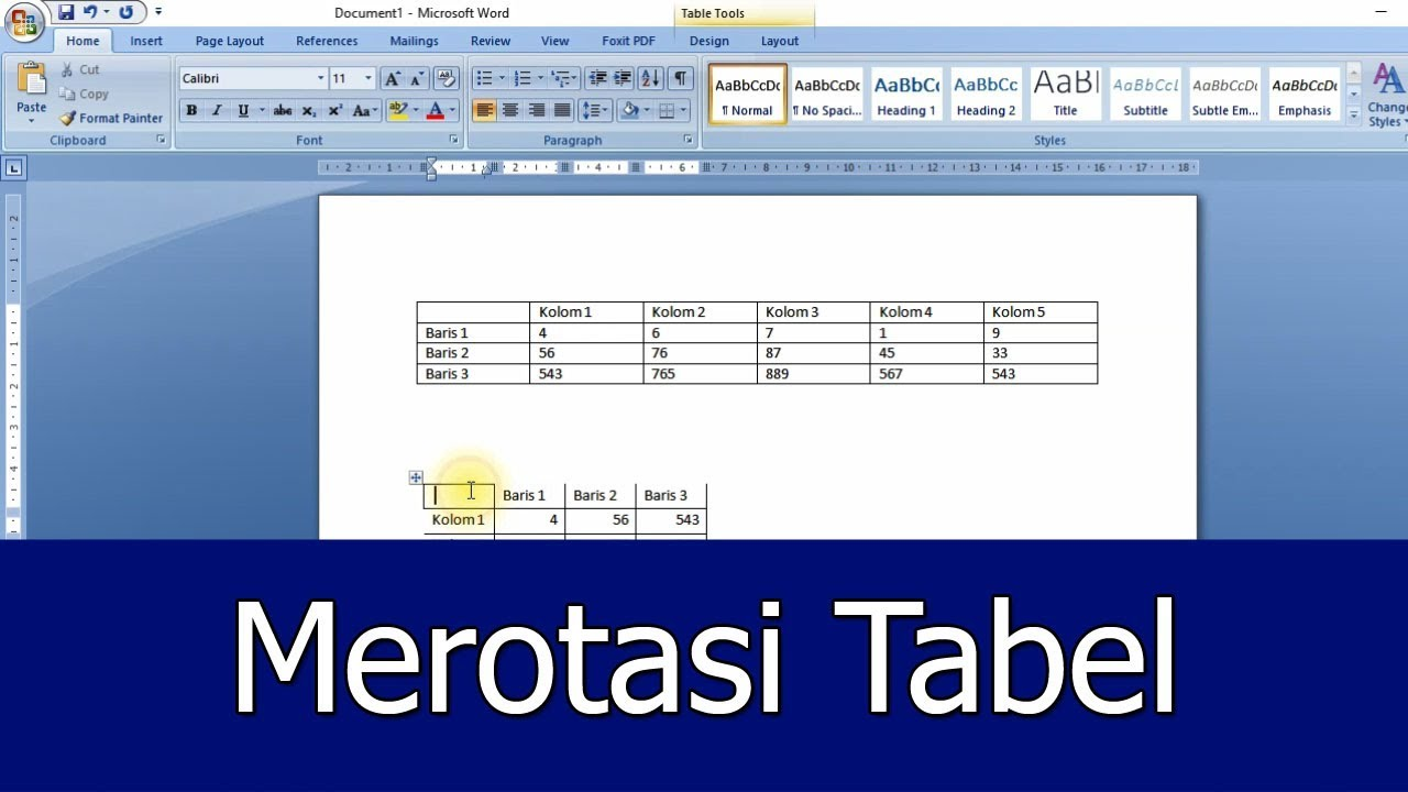 Tips Merotasi Tabel Pada Microsoft Word - Jendela Tutorial - YouTube